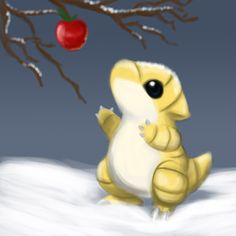 Snowy sandshrew by ~mg9990 on deviantART I'm not really a Pokémon fan but I think that this is cute!