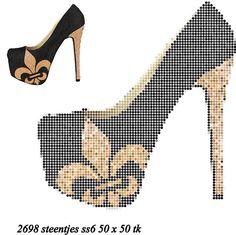 Shoe x-stitch pattern