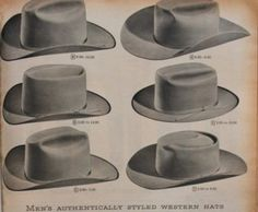 History of Western clothing styles during the and Western shirts and denim jeans. Western wear influence on trendy fashions of the day. Western Hat Styles, Cowboy Hat Styles, Western Boots For Men, Western Wear For Women, Cowboy Hats, Western Style, Cowgirl Tuff, Western Film, Cowgirl Bling