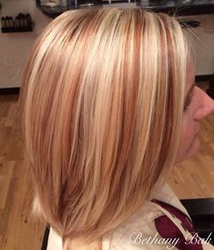 Dimensional Blonde with red/brown. Such a pretty contrast! Dimensional Blonde with red/brown. Blonde Hair With Copper Lowlights, Red Blonde Brown Hair, Red Hair With Blonde Highlights, Red Balayage Hair, Strawberry Blonde Highlights, Hair Lights, Light Hair, Strawberry Blonde Hair Color, Dimensional Blonde