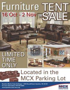 Furniture Tent Sale at the MCX! http://www.mymcx.com/index.cfm/locations/Quantico/