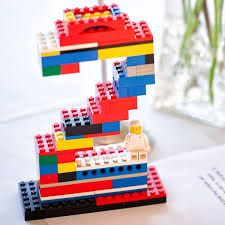 Danish Lego Number as a Lego Birthday Party Centerpiece  sc 1 st  Pinterest & Turn your doors into giant Legos with disposable table cloths and ...