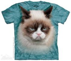 T SHIRT THE MOUNTAIN 3D GRAMPY CAT GATTA GRAMPY UNISEX ADULT
