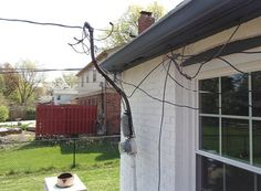 Improperly secured electrical mast. This thing moved by just breathing on it! #ElectricalSafety #HomeInspection