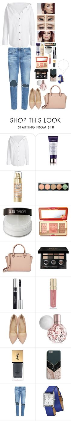 """""""Untitled #2019"""" by azra-99 on Polyvore featuring By Terry, Max Factor, MAKE UP FOR EVER, Laura Mercier, Too Faced Cosmetics, Michael Kors, Bobbi Brown Cosmetics, Christian Dior, Smith & Cult and Charlotte Olympia"""