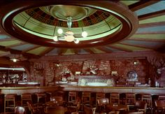 The fabulous Champagne Cellar at The Las Frontier, with it's gigantic upside down roulette wheel!