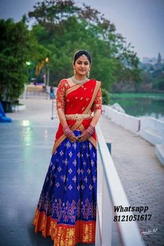 Whatsapp Ikkat Pure Silk Kanchi Lehangas All Sizes Available Ready to shipping Any where in world 🇮🇳🛩🌎 Lehenga Saree Design, Half Saree Lehenga, Lehnga Dress, Lehenga Designs, Lehenga Blouse, Bridal Lehenga, Indian Gowns Dresses, Indian Fashion Dresses, Dress Indian Style