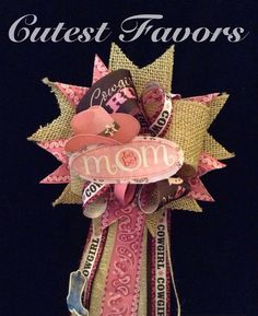 Cowgirl baby shower mum corsage western theme by CutestFavors