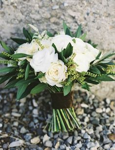 Emerald Green/Gold Wedding Bouquets