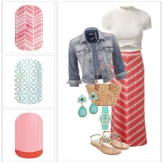 Love this cute little outfit and all three of the Jamberry wraps. Top to Bottom: Sorbet, So Fresh and Punch Bowl