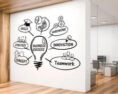Business Success Office Wall Sticker Office Wall Decal | Etsy Office Wall Decals, Office Walls, Wall Sticker, Wall Vinyl, Cool Office, Office Art, Office Decor, Office Ideas, Malm