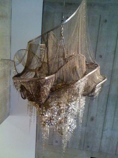 shipwrecked chandelier jesus mother god, i want this.