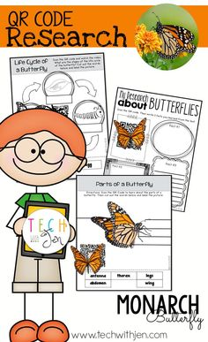 Students will complete research project to learn about the Monarch Butterfly. The resources in this document will also assist in using and creating QR codes for the classroom. This document is complete with examples and video tutorial links to assist in creating QR codes for future projects. $