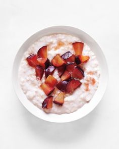 Chilled Plum-Oatmeal
