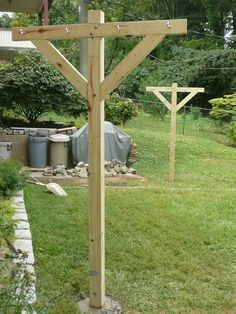 DIY clothesline posts, since the new house didnt have one....