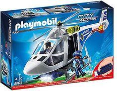 Klocki Playmobil Policja Helikopter z LED (6874) - Ceny i opinie - Ceneo.pl