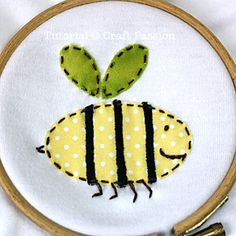 Embroidery - tute is for onesies, but cute idea and techniques could be applied to other projects.