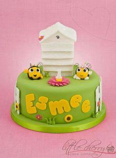 Birthday Cake - BuzzBee!! Fondant Cakes, Cupcake Cakes, Cupcakes, Kid Cakes, Jordan Cake, Bumble Bee Cake, Bug Cake, Cherry Cake, Butterfly Cakes