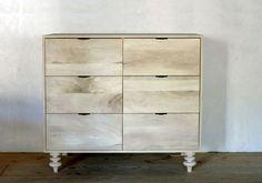 fern dresser by Sawkille Co. Cupboard Storage, Storage Shelves, Shelving, Storage Ideas, Bleached Wood, Furniture Design, Furniture Storage, Wood Furniture, Wood Design