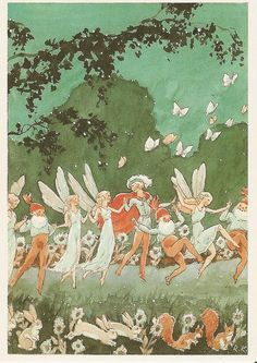 Fairy wedding by the Finnish illustrator Rudolf Koivu (1890-1946) | Tumblr