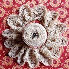 Second sample of the Hentan Cowl in a cream 100% cashmere pattern coming soon #littlenutmegproductions #meghanjoneslnmp #knit #knittingaddict #knits #knitting #knitting_inspiration #knitted #knitlove #knitters #knittersofig #knittersoftheworld #knittersofinstagram #makersofinstagram #knitdesign #knitdesigner #design #designer #yarn #yarnaddict #yarnlove #yarnlover #yarnsofinstagram #lace #laceknitting #laceknitters #beadedknitting #beaded #cowl #flowers