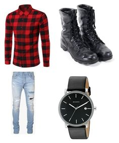 """""""Untitled #456"""" by jamiesowers14 on Polyvore featuring Balmain, Skagen, men's fashion and menswear"""