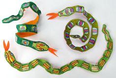 crepe snakes! downloadable artwork www.cleomade.com