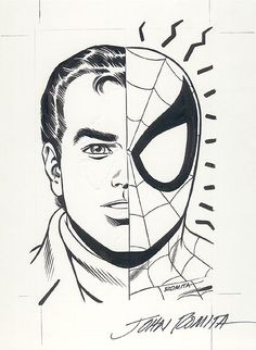 Amazing Spider-man // Peter Parker by the one and only John Romita Sr, a god among men who hold pencils.