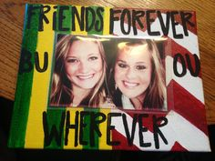 Best Friends Canvas Picture Frame by KCcanvas on Etsy, $18.00