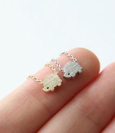 Hedgehog Necklace Animal Pendant Necklace Dainty by petitformal