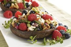 Mixed Berry Stuffed Portobello Recipe