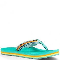 f8dea21c89a97 1008667-MLOW Teva Women s Deckers Flip Flops - Ocean Waves www.bootbay.com