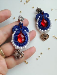 Slovak folk soutache earrings