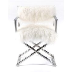 Mongolian Fur & Paris Love Director's Chair - 18726386 - Overstock.com Shopping - Great Deals on Living Room Chairs
