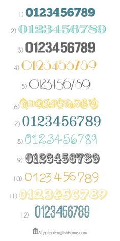 I want house numbers like #5!
