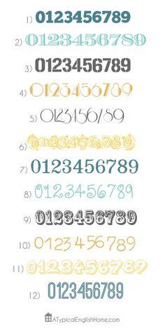 I want house numbers like #5!