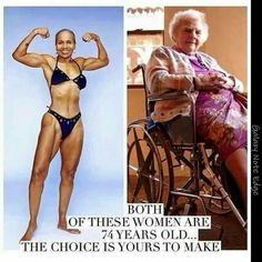 The amazing fit lady on the left is Ernestine Shepherd. She started doing exercises when she was 56! What are your excuses for being unhealthy and sedentary?!
