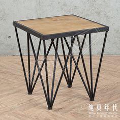 【OPUS LOFT】復古工業風 倒立 鐵錐 小方桌倒立如鐵塔般的線條,給予桌面完美的平衡感。