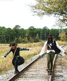 The Walking Dead (AMC): Carl and Michonne | Michonne has been Mothering Carl for a long time