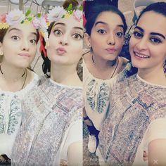 Arisha Razi and Aiman Khan ❤ Beautiful Girls #SelfieTime #PrettyGirls #PakistaniActresses ✨