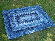 The Funky Clothespin: Project: Scrap denim rug