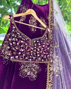 Shop Rianta on WaliaJones Indian Party Wear, Indian Bridal Wear, Indian Wedding Outfits, Indian Outfits, Indian Clothes, Bridal Outfits, Wedding Attire, Half Saree Designs, Fancy Blouse Designs