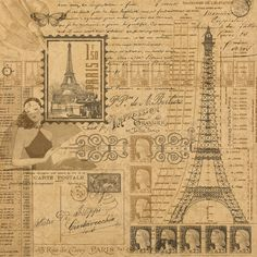 Graphic 45 - Kraft Reflections Collection - 12 x 12 Kraft Paper - Glimpse of Paris at Scrapbook.com $1.09