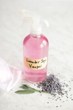.DIY // Lavender Sage All-Purpose Spray Cleaner.  Make your own household cleaner to eliminate unnecessary chemicals at home + save money.
