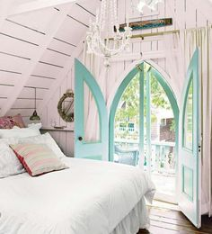 Beautiful turquois Doors
