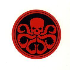 #1625 Hydra Avengers Logo , width 8 cm decal sticker - DecalStar.com