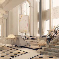 Entrance lobby design by IONS DESIGN - Doha - Qatar
