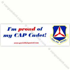 Civil Air Patrol:  Bumper Sticker Proud Of My CAP Cadet