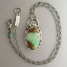 RESERVED. Nevada Royston turquoise necklace in sterling silver. http://etsy.me/1Uu74hq Sisters of the Sun®.