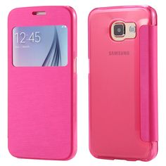 New Case - Hot Pink Luxury Slim View Window Flip Case for Samsung Galaxy S6 Edge, $16.95 (http://www.newcase.com.au/hot-pink-luxury-slim-view-window-flip-case-for-samsung-galaxy-s6-edge/)